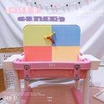 E588 - 折合式積木桌兩用枱 <br>.<br> $295 (一套) <br>藍色 / 粉紫色 <br>.<br> 套裝包括 :<br>積木桌書桌兩用枱1張 <br>背椅1張<br>收納盒2個<br>.<br> (加$50換購56粒滑道積木)  <br>.<br>