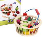 A175 - 木製12件水果切 連 籃子<br>.<br>門市售$250<br>批發價$100<br>.<br>