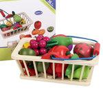 A176 - 木製16件水果切 連 籃子<br>.<br>門市售$280<br>批發價$110<br>.<br>