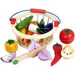 A177 - 木製12件蔬菜切 連 籃子<br>.<br>門市售$250<br>批發價$100<br>.<br>
