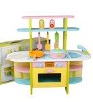 A107 - 木製彩色小廚房<br>.<br>門市售$490<br>批發價$198<br><br>(本月訂購 Free 厨具)<br><br>