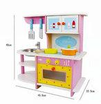 A78 - 木製粉色小廚房<br>.<br>門市售$490<br>批發價$198<br><br>(本月訂購 Free 厨具)<br><br>