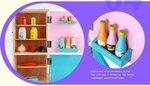 A106 - 木製粉藍大冰箱<br>.<br>門市售$460<br>批發價$195<br><br>(本月訂購 Free 食物配件)<br><br>