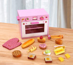 A144 - 木製草莓粉紅色麵包烤箱<br>.<br>門市售$550<br>批發價$250<br><br>(本月訂購 Free 食物配件)<br><br>