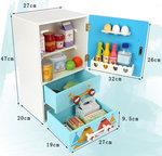 A198 - 木製藍色卡通大冰箱<br>.<br>門市售$850<br>批發價$390<br><br>(本月訂購 Free 食物配件)<br><br>