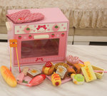 F8090 - 木製新款粉色麵包烤箱<br>.<br>門市售$850<br> 批發價$260<br><br>(本月訂購 Free 食物配件)<br><br>