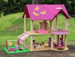 A142 - 木製粉色升降機娃娃房<br>.<br>門市售$800<br>批發價$380<br>.<br>