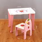 A140 - 木製草莓桌子 + 背椅子<br>.<br>門市售$550<br>批發價$250<br>.<br>