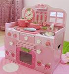F8077 - 木製草莓粉色廚房套裝<br>.<br>門市售$2800<br> 批發價$990<br><br>(本月訂購 Free 厨具)<br><br>
