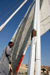Setting up the sail