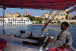 Steering the boat with his foot.. man I am a bit worried!