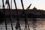 Sunset view from the felucca while having dinner on board