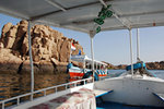 These boats are the only form of transportation between the island and Aswan
