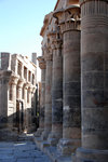 Possibly influenced by the Greeks, this temple has more columns than others.