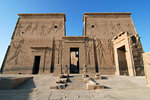 Temple of Isis, first pylon (18m high)