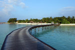 From the jetty, you will take the long footbridge to reach the island