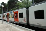 Nicely decorated train, FGC train, Montserrat