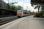 FGC Train runs between Montserrat and Barcelona