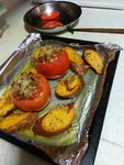 焗蕃茄甜薯