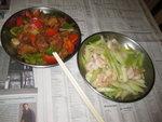 生炒肉排 + 蝦仁西芹
