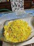 黃薑粉雞蛋三文魚椰菜花不是炒飯