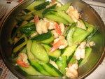 青瓜炒鳳尾蝦