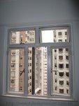 西環皇后大道西真善美大廈鋁窗工程 (1)香檳色鋁窗