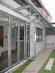元朗峰景豪園鋁窗玻璃趟摺門 (3)