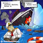 Iceberg and Titanic - Programming Joke