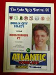 Match ProgrammeThe game which was a 1-1 draw between Dublin City and Middlesbrough was held on 11th November 1996 as part of the Luke Kelly Festival.