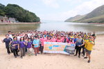 Group photos of World Clean Up Day Trial run